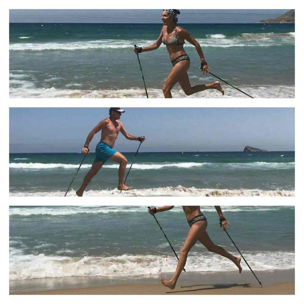 Nordic Walking en la Playa