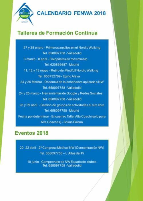 Calendario Fenwa 2018- 2ª Parte