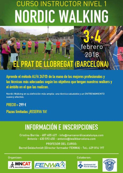 Curso de instructor de Nordic Walking en Barcelona